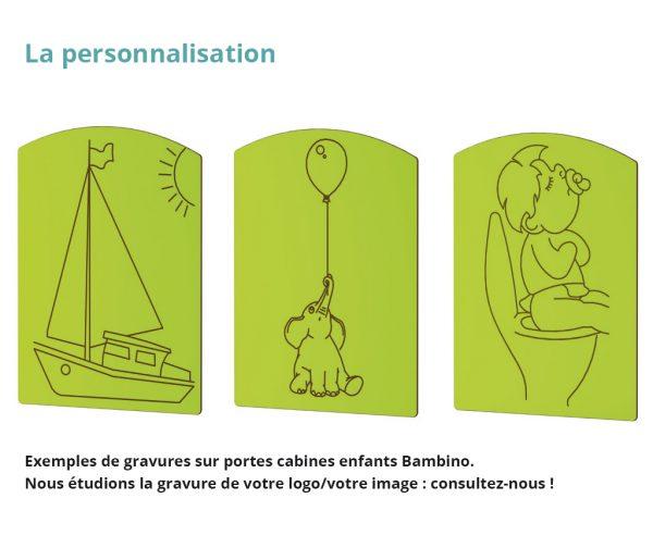 gravure sur porte de cabines sanitaire - personnalisation