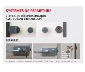 Blocs-portes ouvrants à la française Kalysse systèmes de fermeture