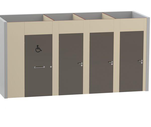 Cabine sanitaire Tertio Bois - Kalysse