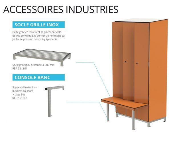 casiers de vestiaires Industrie Agro accessoires Kalysse