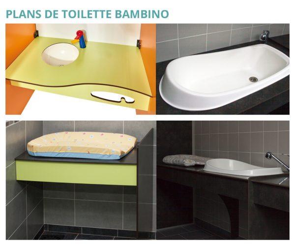 Plans de toilette Bambino Kalysse