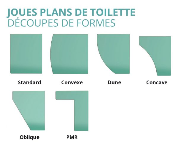 Plans de toilette Kalysse joues découpes de formes