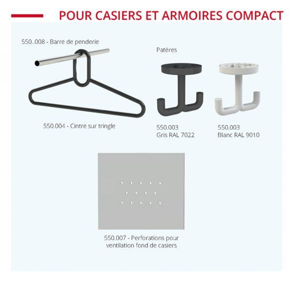 aménagements pour casiers compact