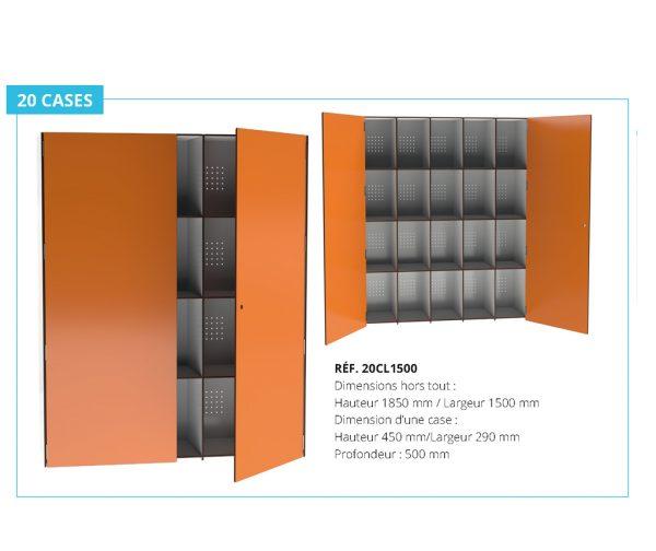 armoire collective stratifié compact Kalysse