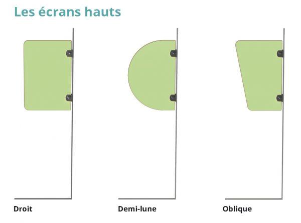 écrans d'urinoirs pour adultes hauts kalysse