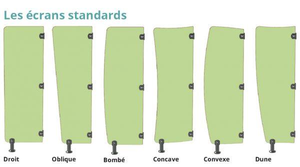 écrans d'urinoirs pour adultes standards kalysse
