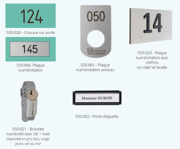 identification pour casiers compact Kalysse
